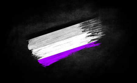 smear of paint in the form of the flag of asexual close-up on a black background