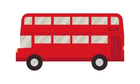 An icon of London red double decker bus shuttle. Vector flat cartoon illustration. Travel. Business. Vector Illustratie