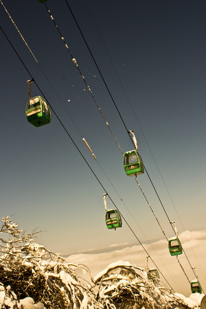 Sichuan Mount Emei cable car