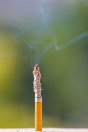toxic substance: Burning cigarette