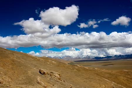 Vast landscape view under the blue sky