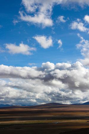 Vast scenery landscape view under the blue sky 写真素材