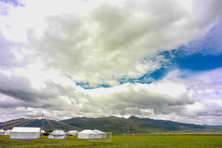 yurt on grassland