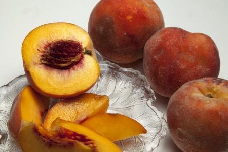 Ripe Peaches Close Up Stock fotó