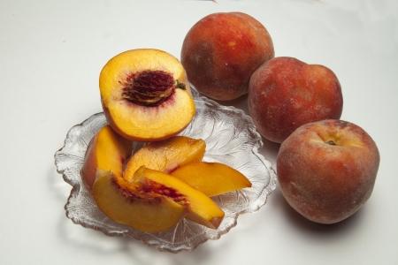 Ripe Sliced Peaches