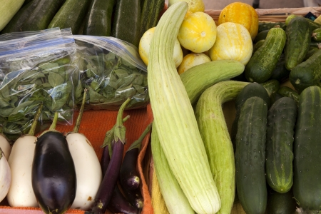 cucumbers: Cucumbers and other vegetables  Stock Photo