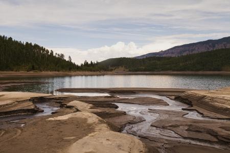 Silver Jack reservoir in Colorado   Banco de Imagens