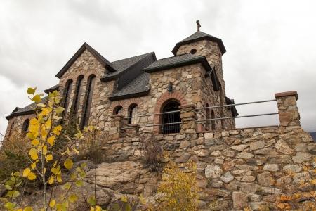 st malo: St Malo church in Colorado  Stock Photo
