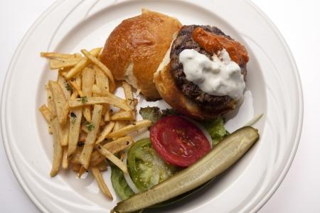 Lamb Burger Reklamní fotografie