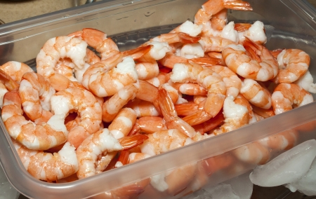 Cooked shrimp ready to be served