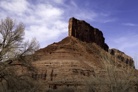 Rock formation at the entrance to Gateway Canyon Resort in Colorado Stock fotó - 18575282