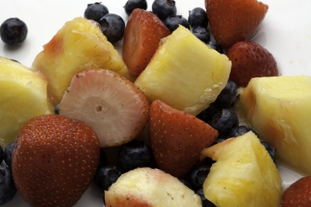 Fruit Mixture including a variety of fresh fruits  Фото со стока