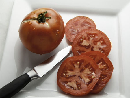 Sliced tomatoes.
