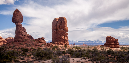 balanced: Balanced rock in Arches National Park.