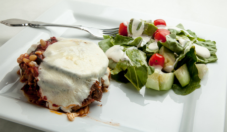 Baked eggplant lasagne.