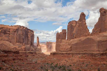 Park Avenue view area of Arches National Park