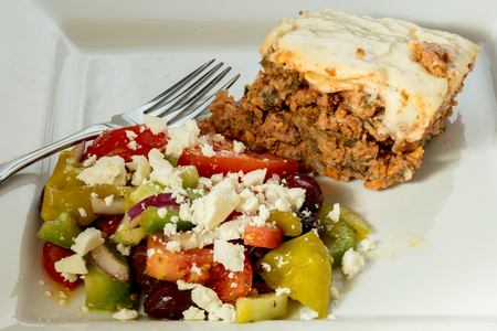 Moussaka and Salad