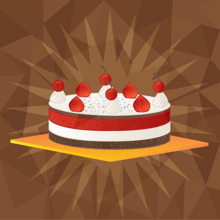 Strawberry cakeBakeryfruit Vector