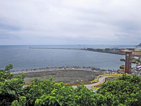 yat sen: Taiwan beach Editorial