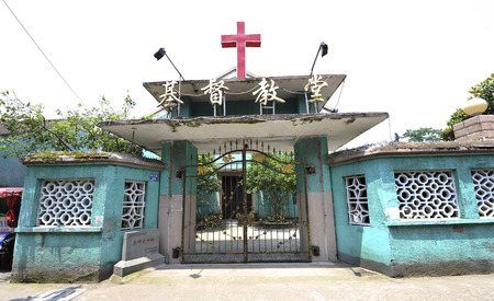the old church: Jinhua old church foundation Editorial