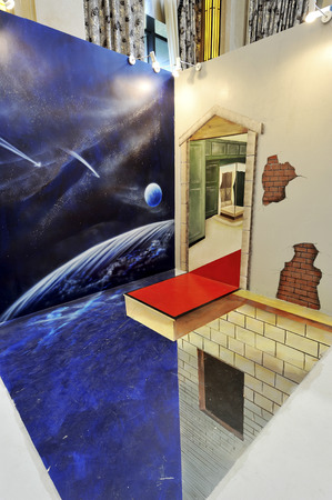 commercial painting: Three-dimensional painting