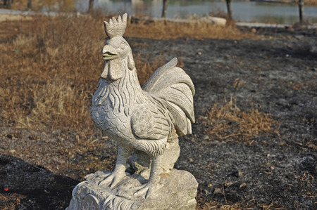 unitary: Chinese zodiac animal statues. Stock Photo