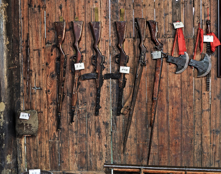 Rural household goods in the exhibition