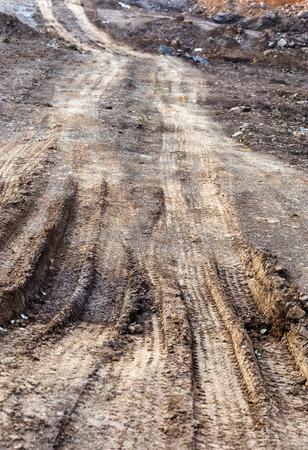 muddy: Muddy road Stock Photo