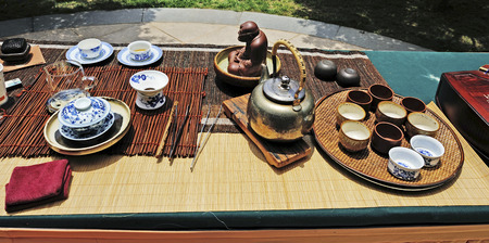 chinese tea ceremony: Chinese tea ceremony Stock Photo