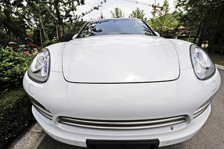 deformation: White car