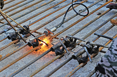 Welded: Welded steel Stock Photo