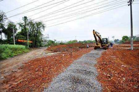 road paving: pavimentaci�n de calles en el sitio