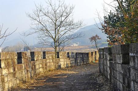 Wall in Yiwu Qijiajun Memorial Hall