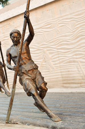 boatman: Bronze portrait