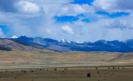 marchers: Mountain scenery