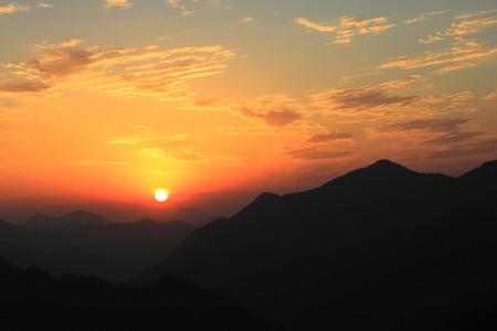 Lever du soleil Banque d'images - 43197683