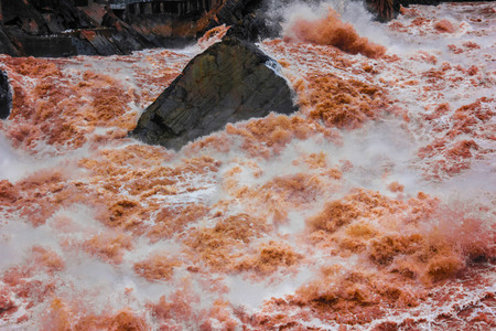 stone of destiny: jinsha river Stock Photo