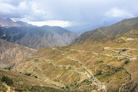 great danger: Mountain scenery at Yunnan