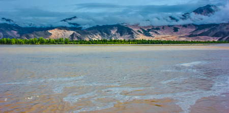 travel features: jinsha river Stock Photo
