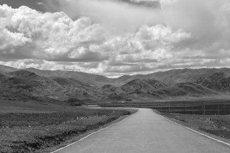 asphalt road: Asphalt road Stock Photo