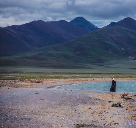 plateau: Scenery at Tibet plateau Stock Photo