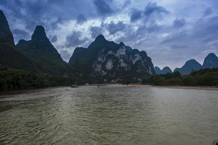 downstream: Guilin, Yangshuo tour Stock Photo