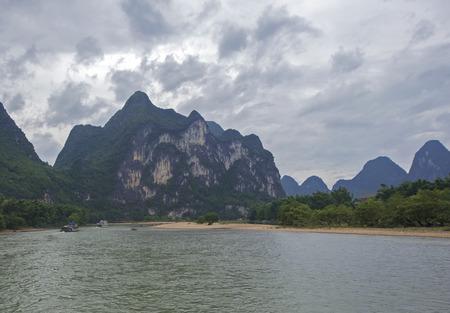 river rafting: the Lijiang River rafting