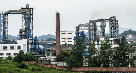 cement chimney: Chemical plant