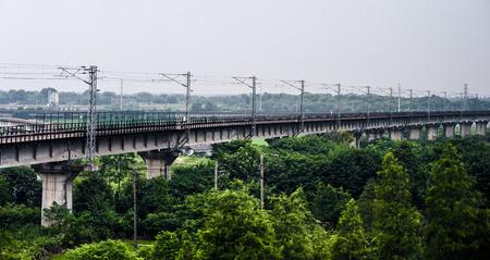 solid wire: Railway bridge