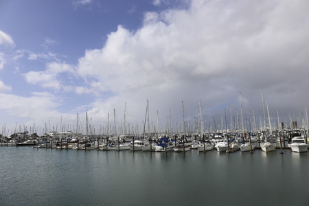 moored: boats moored at the pier Editorial
