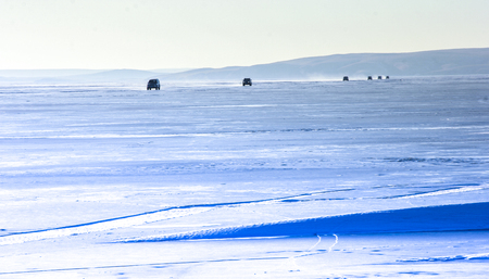 frozen lake: Frozen lake landscape view
