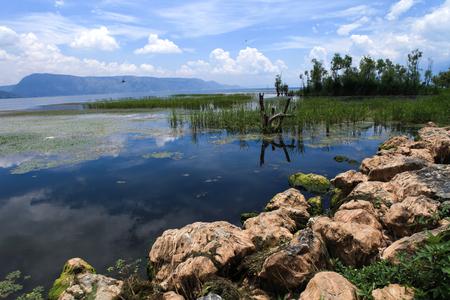 Erhai Lake at Yunnan Stock Photo