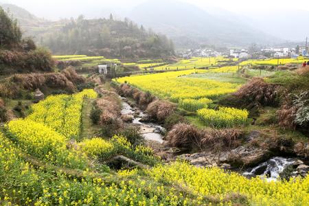 scenic spots: Wuyuan views Stock Photo
