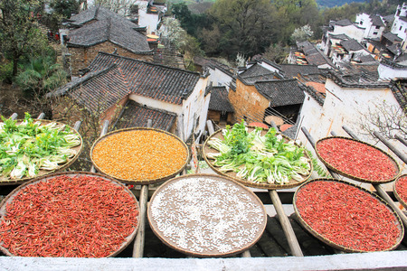 scenic spots: Wuyuan scenery Stock Photo